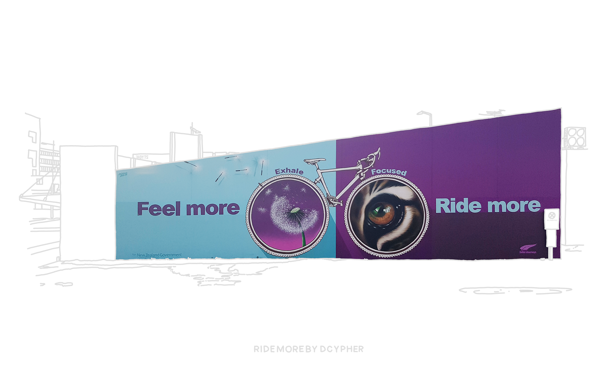 Mural 42 - Ride More - Augmented Reality Poster